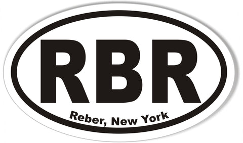 RBR Reber, New York Oval Bumper Stickers