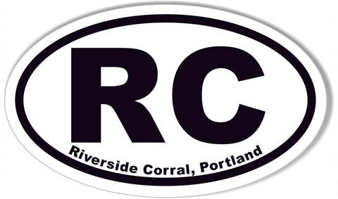 RC Riverside Corral, Portland Oval Bumper Stickers