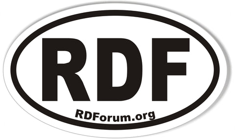 RDF RDForum.org Oval Bumper Stickers