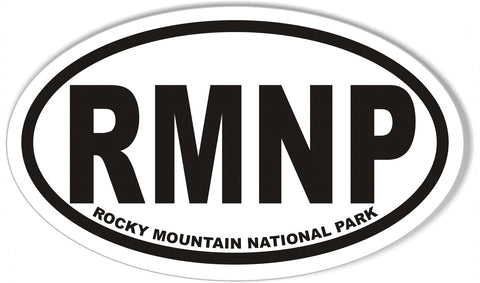 RMNP ROCKY MOUNTAIN NATIONAL PARK Oval Bumper Stickers