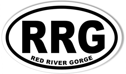 RRG RED RIVER GORGE Oval Bumper Stickers