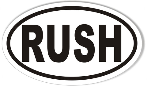 RUSH Oval Bumper Stickers