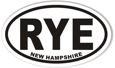 RYE NEW HAMPSHIRE Oval Bumper Stickers