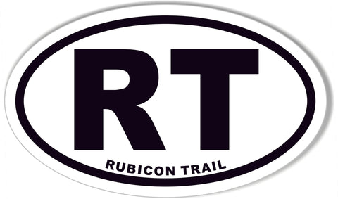 RT RUBICON TRAIL Oval Bumper Sticker