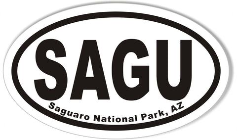 SAGU Saguaro National Park, AZ Oval Bumper Stickers