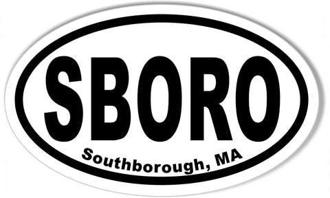 SBORO Southborough, MA Oval Bumper Stickers
