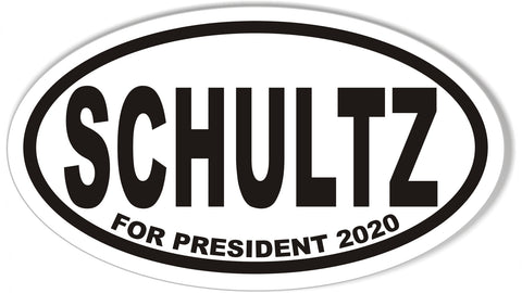 Howard Schultz for President Oval Bumper Sticker