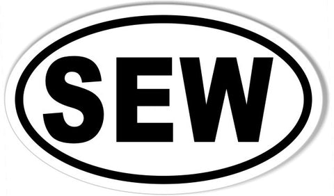 SEW Oval Bumper Stickers