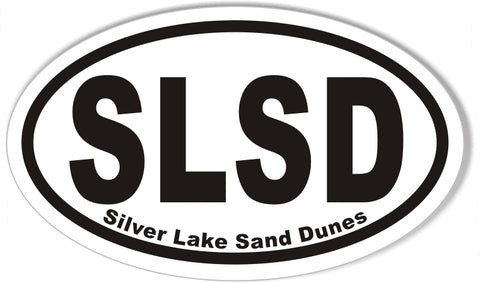 SLSD Silver Lake Sand Dunes Oval Stickers 3x5""