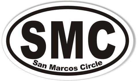 SMC San Marcos Circle Oval Bumper Stickers