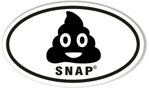 SNAP Custom Oval Bumper Stickers