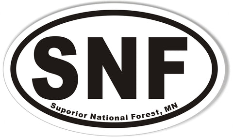 SNF Superior National Forest, MN Oval Sticker