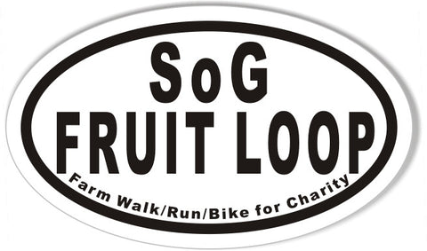 SoG FRUIT LOOP Custom Oval Bumper Stickers