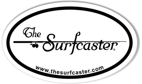 The Surfcaster Euro Oval Stickers