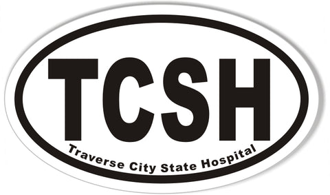 Traverse City State Hospital Oval Bumper Stickers