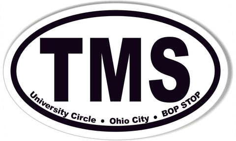 TMS Custom Oval Bumper Stickers