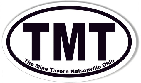 TMT Oval Bumper Stickers