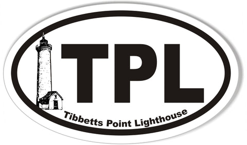 Tibbetts Point Lighthouse Custom Oval Bumper Stickers