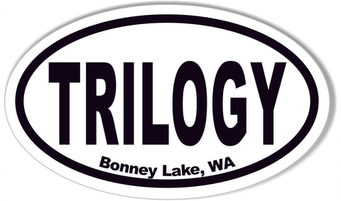TRILOGY Bonney Lake, WA Oval Bumper Stickers