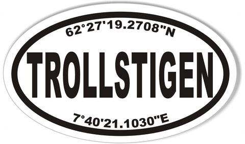 Trollstigen or Fv63 Custom Oval Bumper Stickers