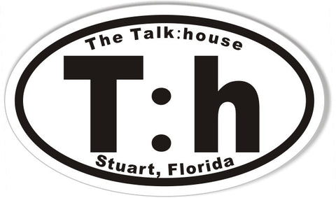 T:h The Talk:house Stuart, Florida 3x5 Inch Oval Bumper Stickers