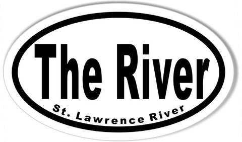 The River St. Lawrence River  Euro Oval Stickers