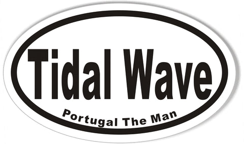 Tidal Wave Oval Bumper Stickers