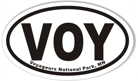 VOY Voyageurs National Park, MN Oval Sticker