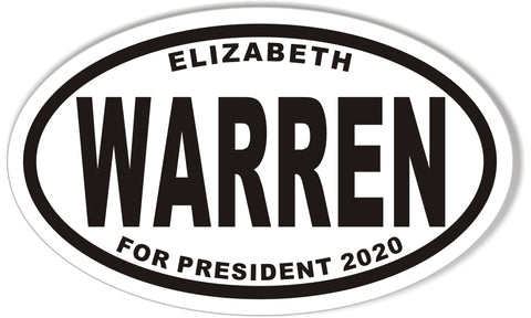Elizabeth Warren for President Oval Bumper Sticker