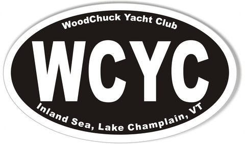"WCYC Custom 3x5"" Oval Bumper Stickers"