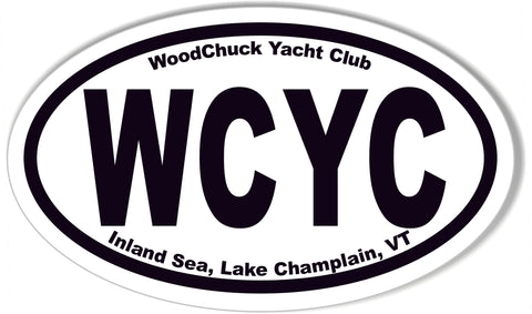 WCYC Oval Bumper Stickers