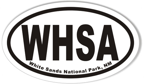 WHSA White Sands National Park, NM Oval Bumper Stickers