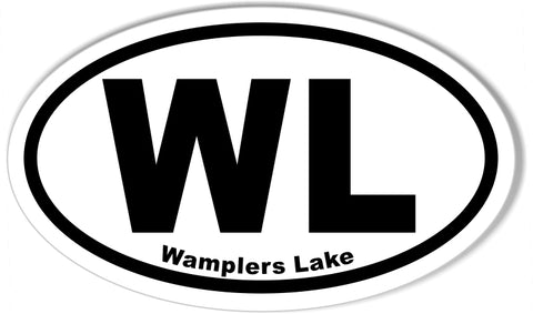 "WL Wamplers Lake  3x5"" Custom Euro Oval Stickers"