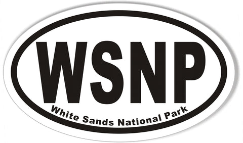 WSNP White Sands National Park Oval Bumper Stickers