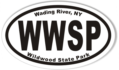Wildwood State Park Oval Sticker