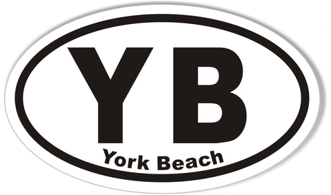 YB York Beach Oval Bumper Sticker