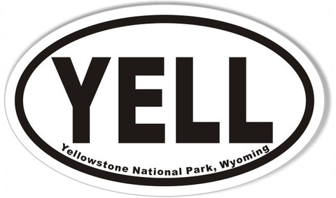 Yellowstone National Park, Wyoming Oval Sticker