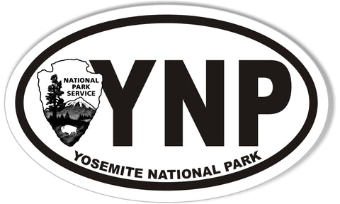 YNP Yosemite National Park Oval Stickers