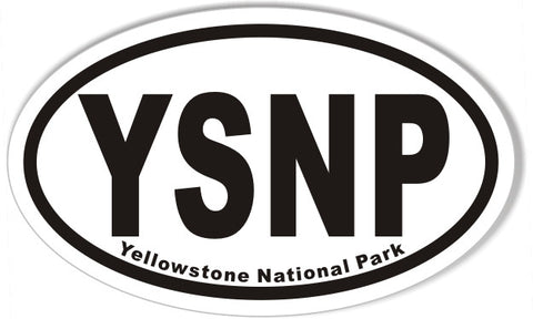 YSNP Yellowstone National Park Oval Sticker
