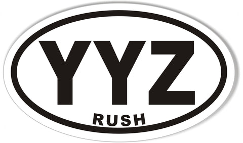 YYZ RUSH Oval Bumper Stickers
