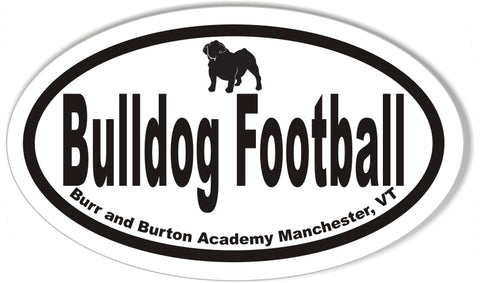 Bulldog Football Oval Stickers