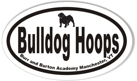 Bulldog Hoops Oval Stickers