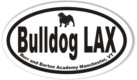 Bulldog LAX Oval Stickers