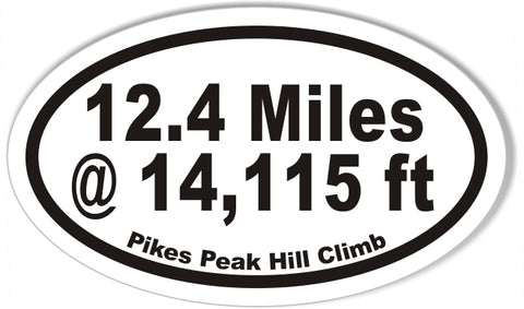 Pikes Peak Hill Climb Oval Bumper Stickers