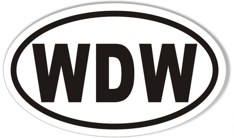 WDW Euro Oval Bumper Stickers