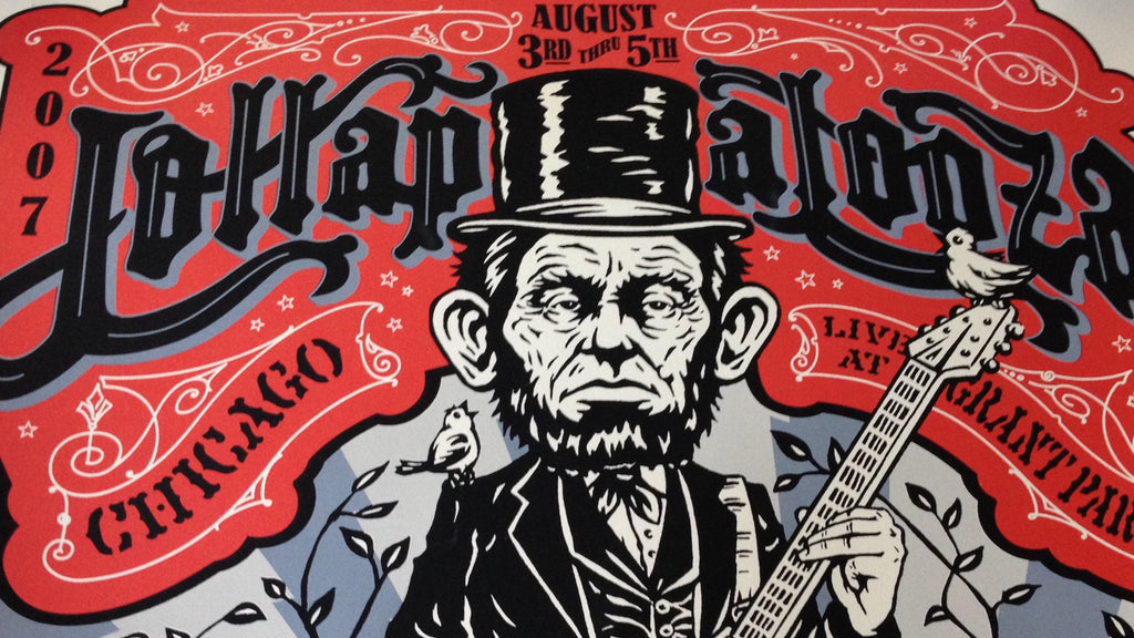 Top Five Posters from Lollapalooza in Chicago, IL!