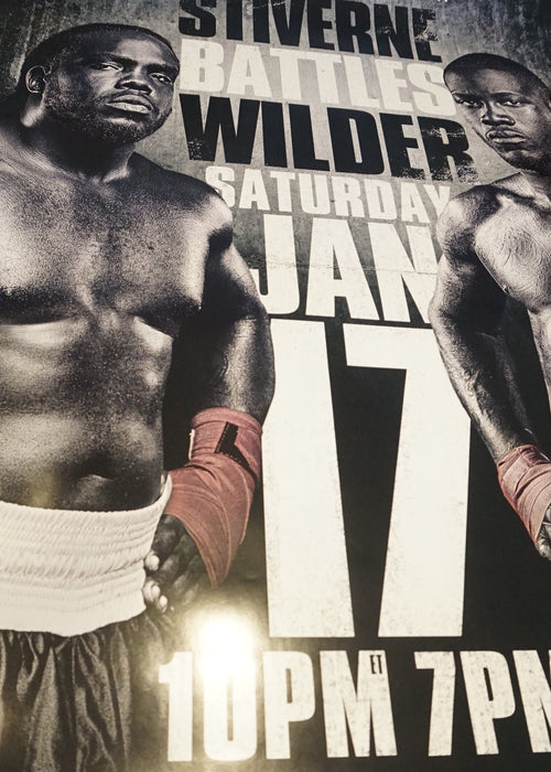 Stiverne vs. Wilder- poster print Boxing UFC MMA Fight