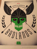 Badlands  - Delicious Design poster print Chicago, IL North Dakota