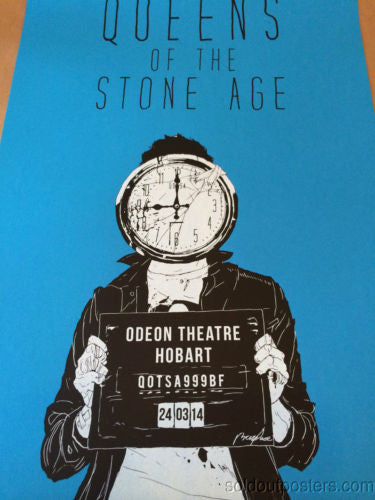 Queens of the Stone Age - 2014 Boneface poster print QOTSA like clockwork Hobart