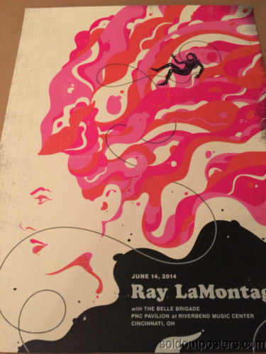 Ray LaMontagne - 2014 Delicious Design poster print Chicago, IL Cincinnati